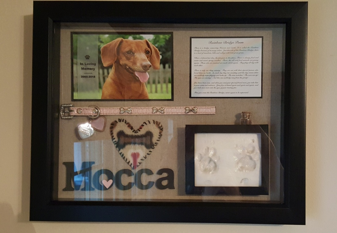 Vicki-Mocca Shadow Box Memorial