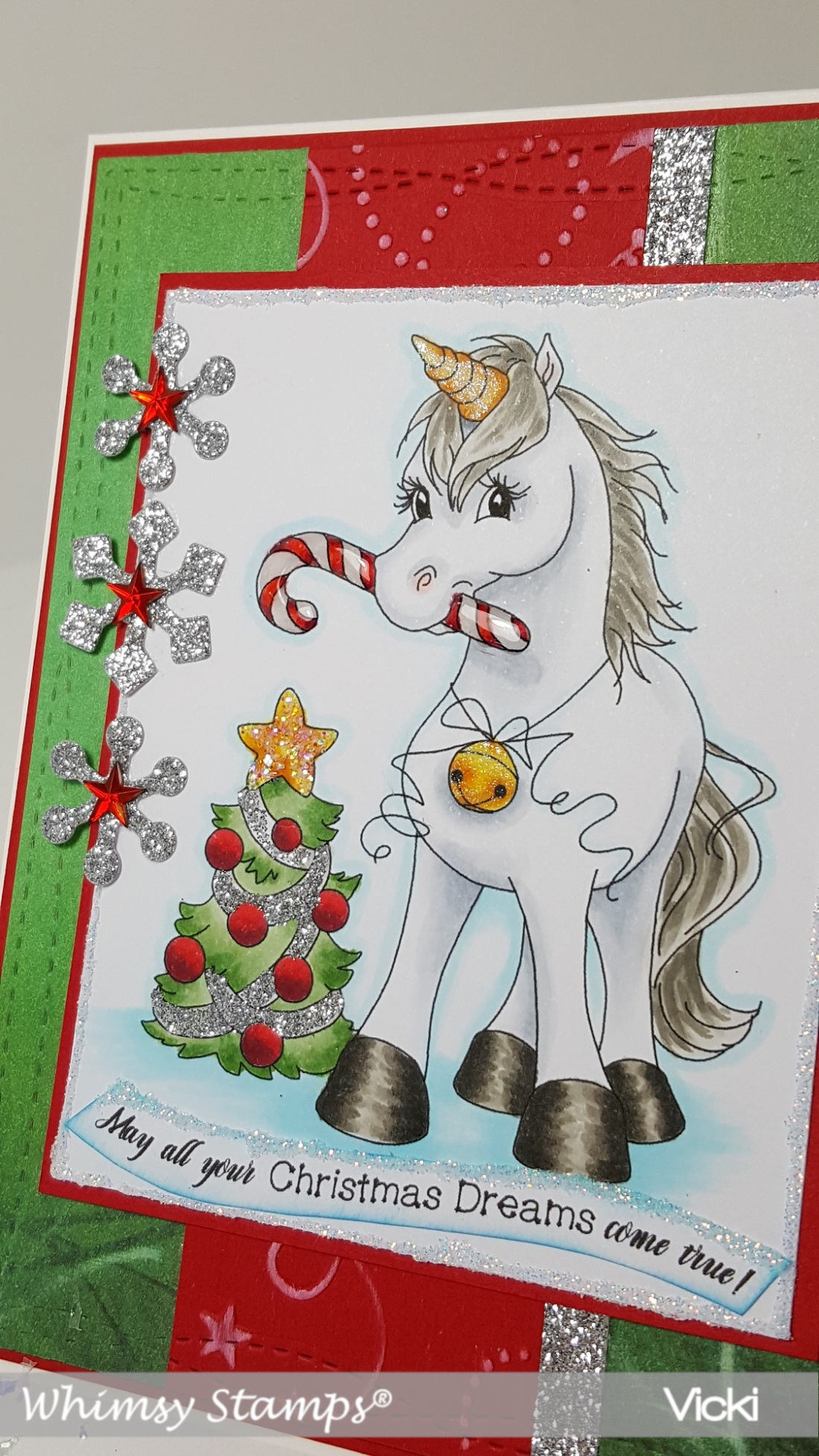 Vicki-WS-Christmas Unicorn-CCT559-close