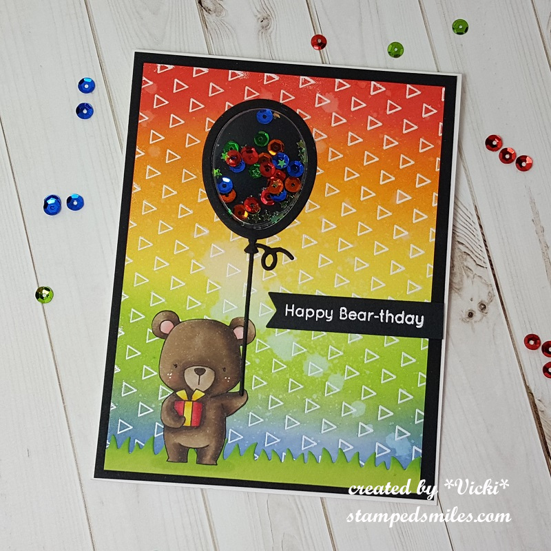 Vicki-MFT Birthday Bear Rainbow-flat