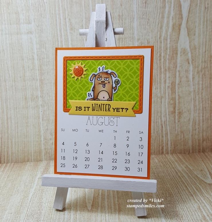 Vicki-Calendar Month August