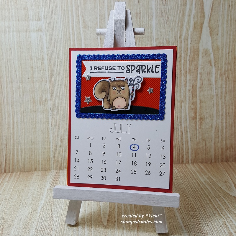 Vicki-Calendar Month July