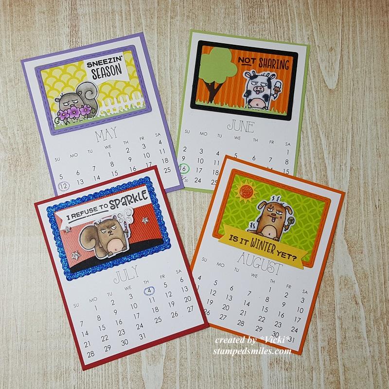 Vicki-Calendar Months-May-Aug