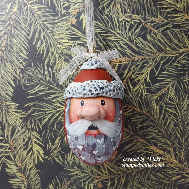 Vicki-Santa Gourd Ornament Class