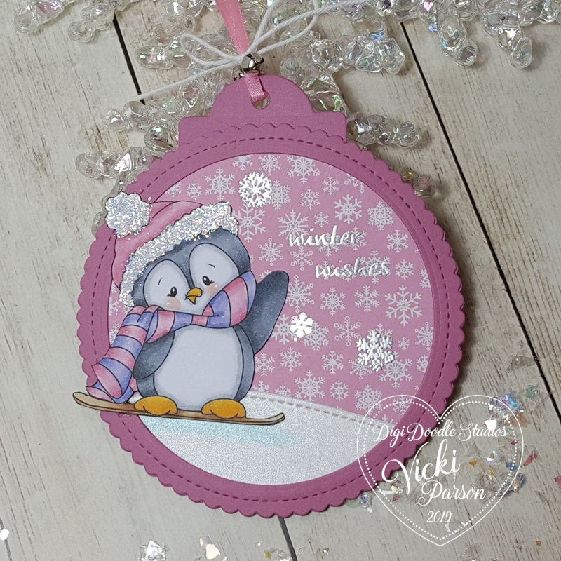 Vicki-DDSWintertimePenguins-tag-pink