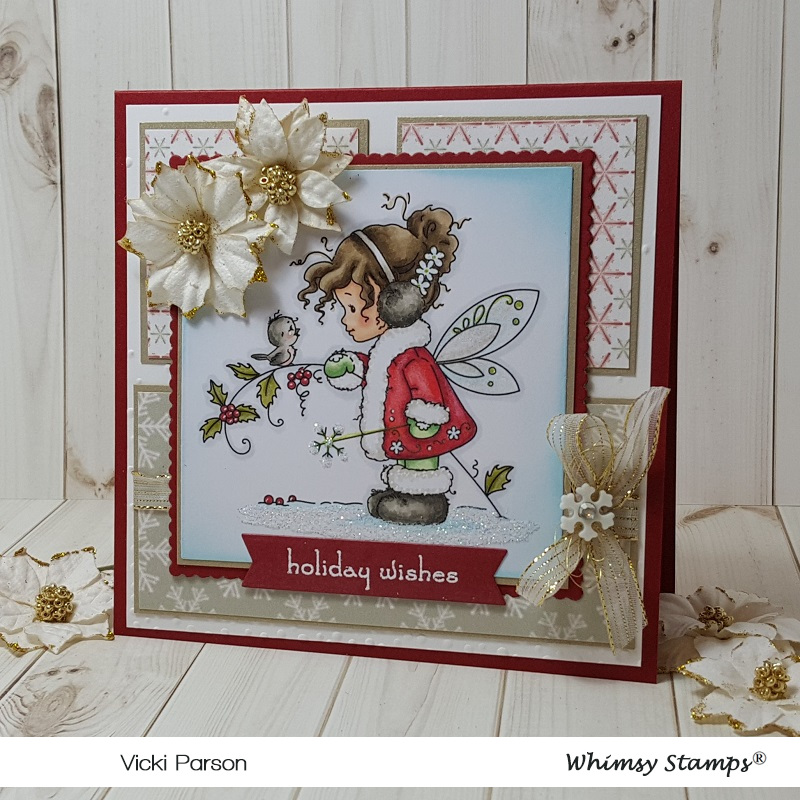 SYLVIA ZET WHIMSY HOPEFUL HANDMADE CARD TOPPER