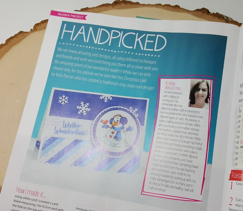 Vicki-published in Making Cards magazine