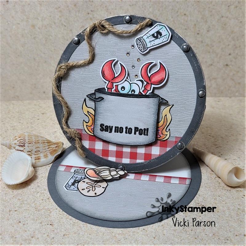 Vicki-InkyStamperGDT-Crab-circle easel